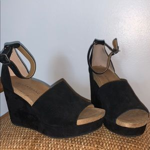 | Black Lucky Brand Wedges |